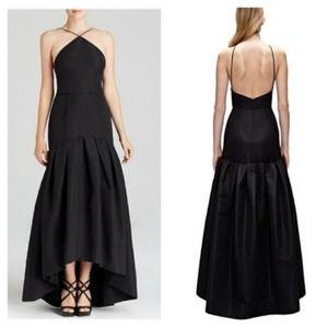 NWT Jill Stuart Black Drop Waist Faille Ball Gown